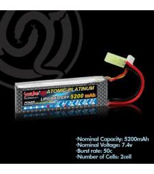 Литиево-полимерна батерия 7.4v 5200mAh 50C