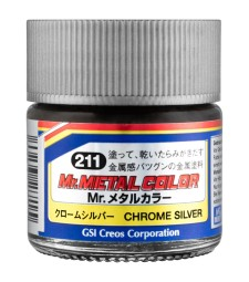 MC-211 Mr. Metal Color - Chrome Silver (10ml)