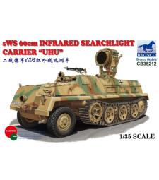 1:35 Германска бронирана полугъсенична машина SWS 60cm с инфрачервен прожектор 'UHU'