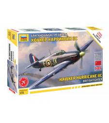 1:72 Британски самолет Hawker Hurricane IIc - сглобка без лепило