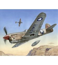 "1:72 Aмерикански боен самолет P-40 F Warhawk ""Short Tails over Africa"""