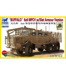 1:35 Бронирана инженерна транспортна машина Buffalo MPCV with Grill Armor