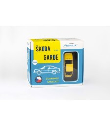Skoda Garde (1982) 1:43 - Solar Yellow - Model Kit
