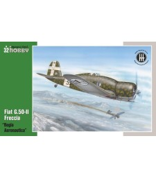 "1:32 Италиански самолет Fiat G.50-II ""Regia Aeronautica"""
