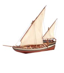 1:85 Султан, арабска лодка доу - Модел на кораб от дърво