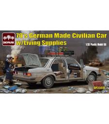 1:35 Германски автомобил от 70-те с консумативи (70's German Made Civilian Carw/Living Supplies)
