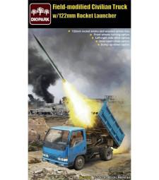 1:35 Модифициран цивилен камион с ракетна установка 122mm Rocket Launcher (Field-modified Civilian Truck w/122mm Rocket Launcher)