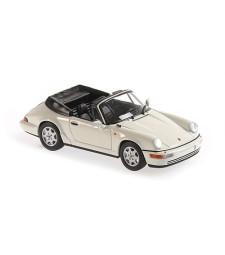 PORSCHE 911 CARRERA 2 CABRIOLET - 1990 - WHITE - MAXICHAMPS
