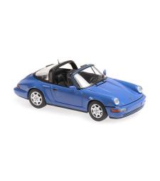 PORSCHE 911 TARGA (964) - 1991 - BLUE - MAXICHAMPS
