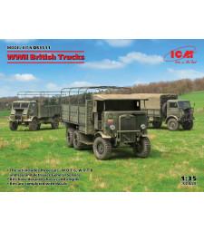 1:35 WWII British Trucks (Model W.O.T. 6, Model W.O.T. 8, Leyland Retriever General Service)