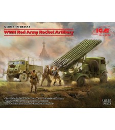 1:35 Ракетна артилерия на Червената армия, Втора световна война (BM-13-16 на W.O.T. 8 шаси, Model W.O.T. 6, WWII Съветски BM-13-16 MLRS екипаж, RKKA шофьори (1943-1945))