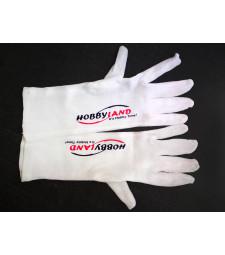 Бели ръкавици с лого на Хобиленд