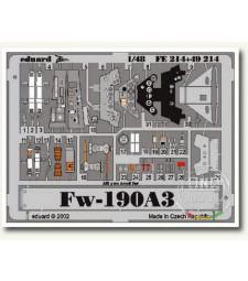 1:48 Фотоец части за изтребител Фоке-Вулф 190A-3, цветни (TAMIYA)