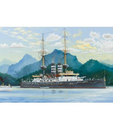 """1:200 Японски боен коран """"Микаса"""" 1902 (Japanese Battleship Mikasa 1902) - с метална верига на котвата"""