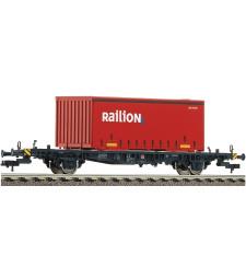 Товарен вагон платформа с контейнер Lgjs 598, DB AG, епоха V