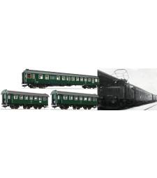 """Комплект от 3 пътнически вагона """"Passenger train Murnau-Oberammergau"""", DB, епоха IV"""