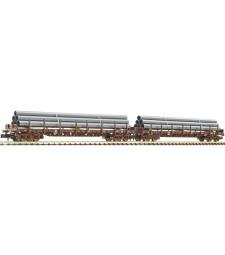 Сет от 2 товарни вагона за тръби (OBB), епоха V