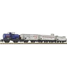Сет от три товарни вагона и един вагон цистерна на KPEV, епоха I