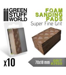 FOAM Sanding Pads - Grit #2500 (foam color dark brown) (pack x10)