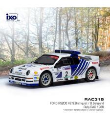Ford RS200, No.2, Rallye WM, RAC Rally S.Blomqvist/B.Berglund, 1986