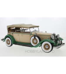 Ford Lincoln KB, Beige and Green, Closed Canopy 1932