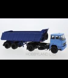 LIAZ 110, light blue with MAZ 9506-20 Tilt Sewithrailer