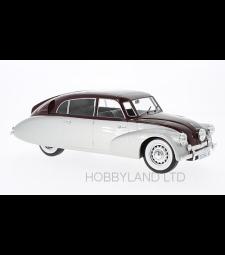 Tatra 87, silver/dark red