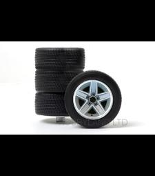 Комплект гуми - 4 броя алуминиеви джанти, сребро