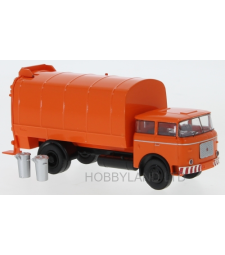 LIAZ 706 Mullwagen, orange, incl. 2 Mulltonnen, 1970