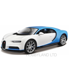 Bugatti Chiron, white/blue