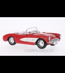 Chevrolet Corvette, red/white, 1957