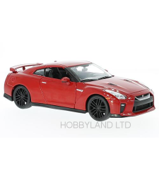 Nissan GT-R, red, 2017