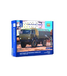 "KAMAZ-4350 ""Mustang"" flatbed truck - Die-cast Model Kit"