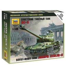 1:100 Съветски тежък танк Йосиф Сталин ИС-2 (IS-2 STALIN) - сглобка без лепило
