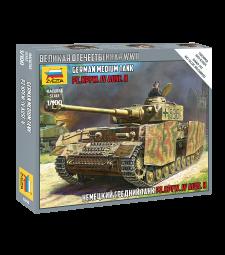 1:100 Германски танк PANZER IV AUSF.H - сглобка без лепило