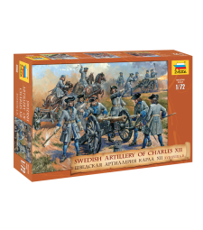 1:72 Шведска артилерия на Карл XII - 37 фигури