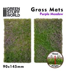 Grass Mat Cut-Outs 90x145mm PURPLE MEADOW 10mm (2pc)