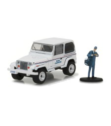 """1991 Jeep Wrangler YJ """"Mail Carrier"""" with Mail Carrier Solid Pack - The Hobby Shop Series 1"""