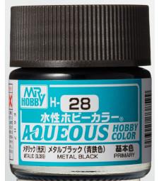 H-028 Metal Black (10ml) - Mr. Color