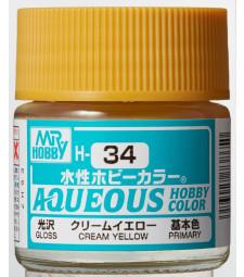 H-034 Gloss Cream Yellow (10ml) - Mr. Color