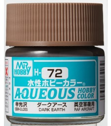 H-072 Semi-Gloss Dark Earth (10ml) - Mr. Color for Aircraft Models, Great Britain, WWII