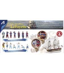 "Екипаж за кораба ""Ермион Лафайет"" - 14 отляти от метал фигури"