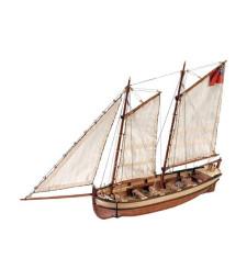 """1:50 Лодка на кораба """"Индевър"""" - Модел на кораб от дърво"""