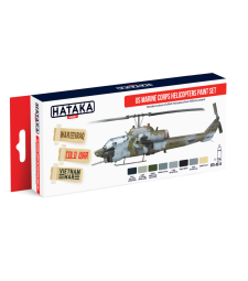 HTK-AS14 US Marine Corps Helicopters Paint Set (6 x 17 ml) - ЧЕРВЕНА СЕРИЯ -  КОМПЛЕКТ ЗА АЕРОГРАФ