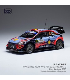 Hyundai i20 Coupe WRC, No.6, Rallye WM, Rallye Sardinien, D.Sordo/C.Del Barrio, 2020