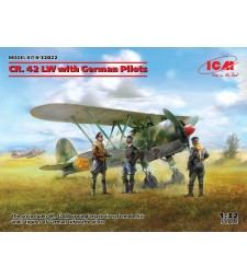1:32 Самолет CR. 42 LW с немски пилоти