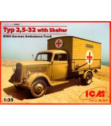 1:35 Германски санитарно-спасителен камион Opel Typ 2,5-32