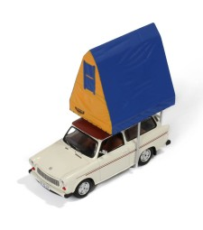 TRABANT 601 KOMBI 1980 Cream (with Roof tent in RESIN)