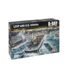 1:35 Десантен кораб LCVP с екипаж и пехотинци (LCVP with U.S. INFANTRY) - 28 фигури