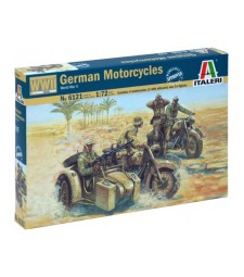 1:72 Германски мотоциклети с екипаж, Втора световна война WWII - GERMAN MOTORCYCLES